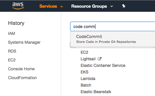 Creating a CodeCommit Repository - beta awsdocs com