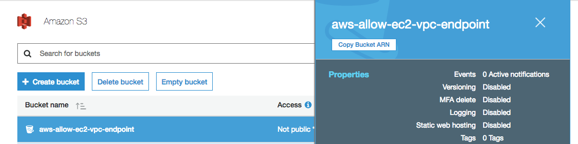 Creating an S3 VPC Endpoint - beta awsdocs com